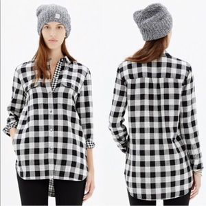 MADEWELL | ex boyfriend oversized flannel tunic